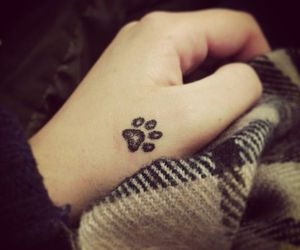 tattoo, dog, and paws image