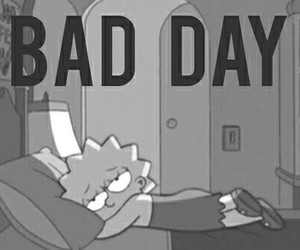 bad day, sad, and simpsons image