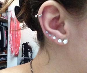 diamond, ear, and Piercings image