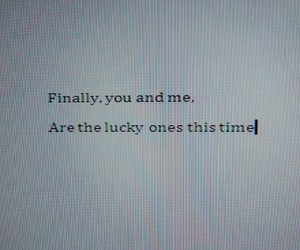 Lyrics, quotes, and lucky ones image