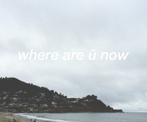 beach, gray, and Lyrics image
