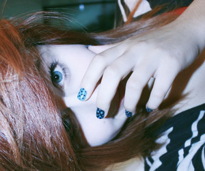 blue eyes, nails, and girl image