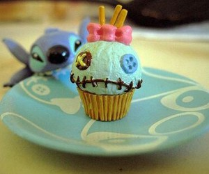 cupcake, stitch, and disney image