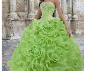 green and dress image