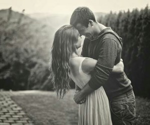 love, couple, and girl image