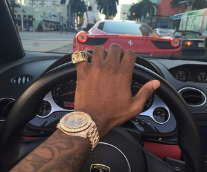 car, luxury, and watch image