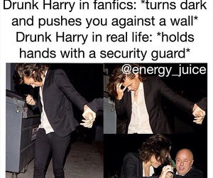 Harry Styles, one direction, and drunk image