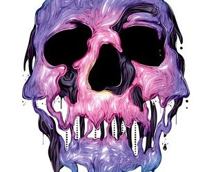 skull, pink, and purple image