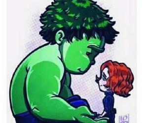 Hulk, love, and Avengers image