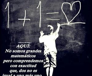 matematicas, pareja, and amor image