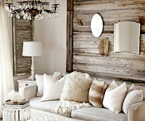 cozy, living room, and rustic image