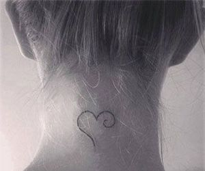 tattoo, heart, and neck image