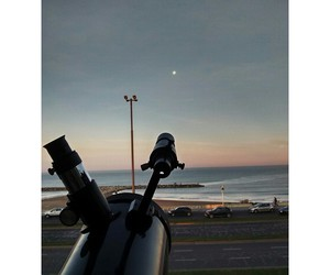 astronomy, balcony, and beach image