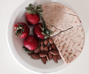 almonds, healthy, and pita image