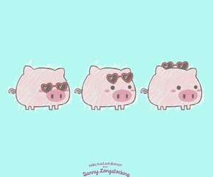 fashion, pig, and charming little pig image
