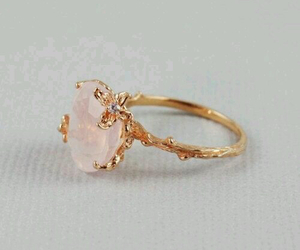 ring, gold, and pink image