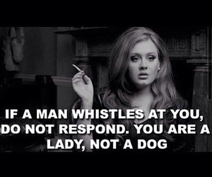 Adele, lady, and quote image