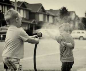 kids, water, and boy image