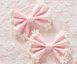 cute bows pink tenderness image