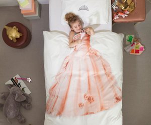 bed, child, and sheet image
