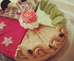 cake, food, and rose image