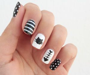 nails, cat, and black image
