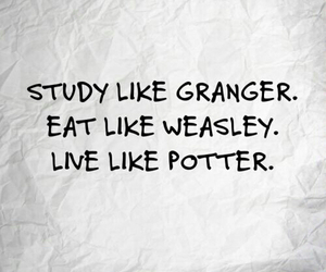 harry potter, weasley, and granger image