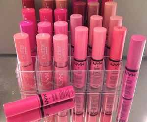 makeup, NYX, and pink image