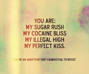 love, quote, and kiss image