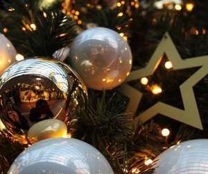 baubles, christmas, and decorations image