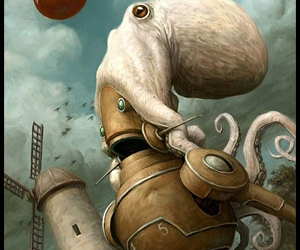 octopus and robot image