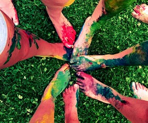 best friends, color, and colorful image