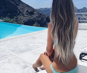 body, hair, and pool image
