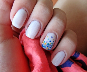 colors, nail, and white image
