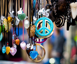 hippie, jewelry, and peace image