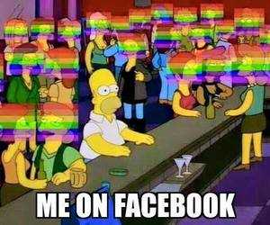 facebook, funny, and rainbow image