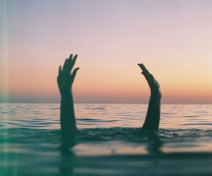 hands, sea, and ocean image