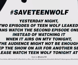 save, teen wolf, and teen image