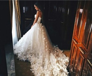 beautiful, wedding, and dress image