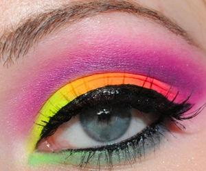 orange, eyes, and green image