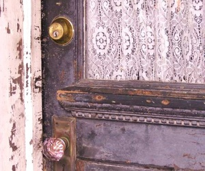 door and lace image