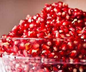 pomegranate, fruit, and food image