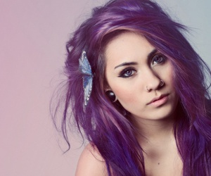 Purple Hair Discovered By Bru On We Heart It