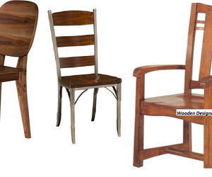 wooden chairs and designers chairs image