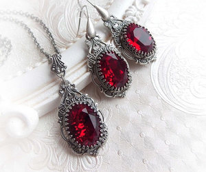 baroque, gothic jewelry, and victorian image