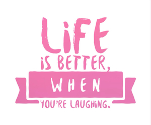 happiness, laughing, and pink image