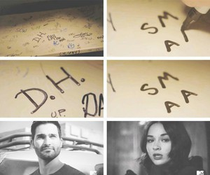 teen wolf, allison argent, and derek hale image