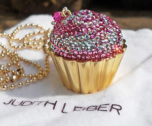 cupcake, pink, and necklace image