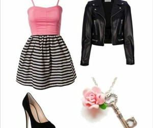 clothes, heels, and pink image