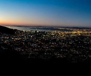 cape town, night, and south africa image